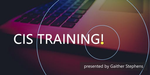 July 2019 CIS Training