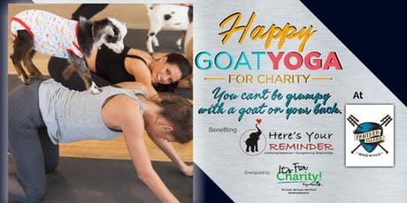 Happy Goat Yoga-For Charity at Panther Island Brewing, Indoor Session tickets