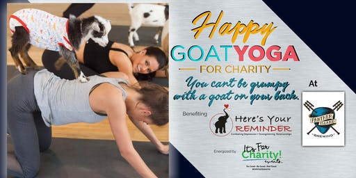 Happy Goat Yoga-For Charity at Panther Island Brewing, Indoor Session