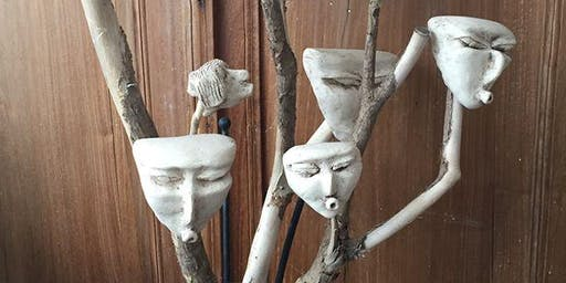 Making Clay Masks (with Tina Hill-Art, potter) Sunday