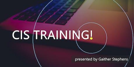 August 2019 CIS Training tickets
