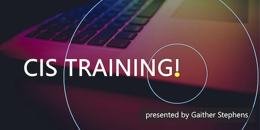 September 2019 CIS Training