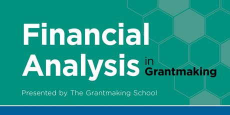 Financial Analysis in Grantmaking tickets