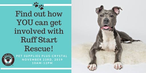 Crystal Pet Supply Plus Volunteer Recruitment Event-November 23rd