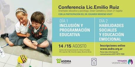 Conferencia Lic. Emilio RUIZ entradas