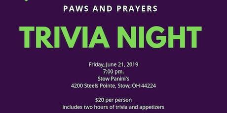 Paws & Prayers Trivia Night tickets