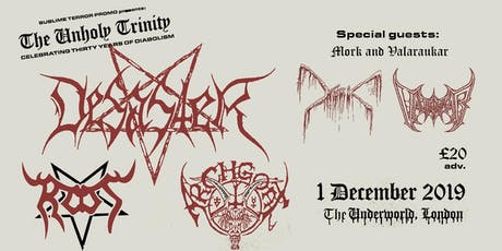 Desaster // Root // Archgoat at the Underworld tickets