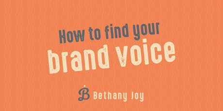 Business workshop: How to find your brand voice tickets