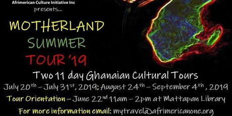 Afrimericanone Motherland Summer Tour Orientation tickets