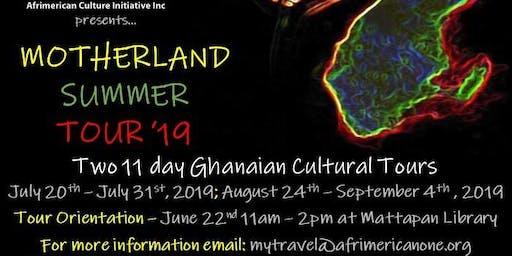 Afrimericanone Motherland Summer Tour Orientation