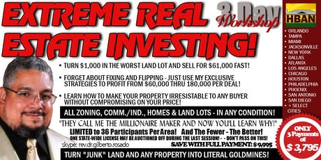 Moreno Valley Extreme Real Estate Investing (EREI) - 3 Day Seminar tickets