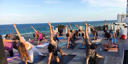 Summer Sunset Rooftop Yoga