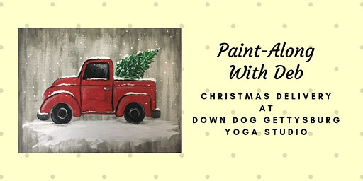Christmas Delivery Truck Paint-Along at Down Dog Gettysburg