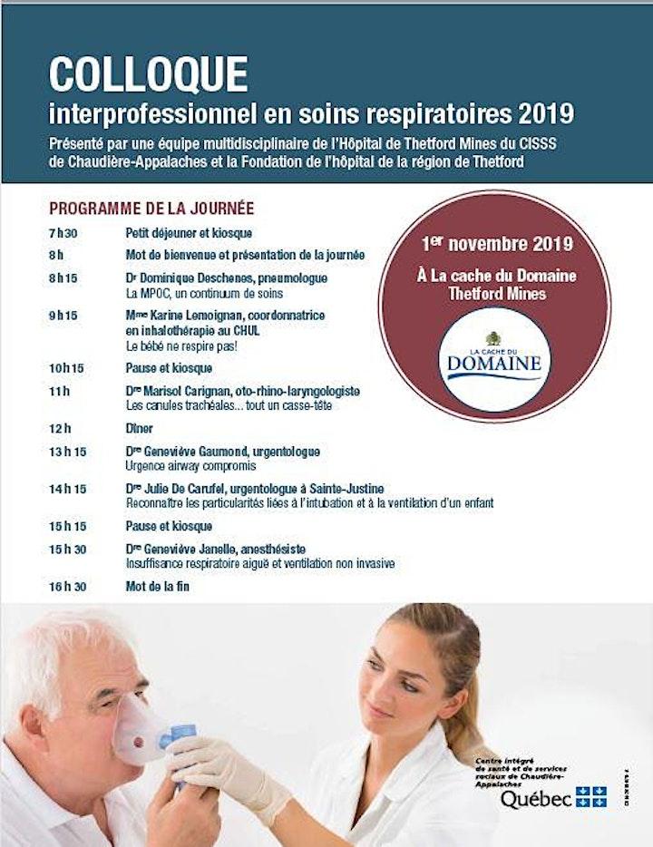 Image de Colloque interprofessionnel en soins respiratoires 2019