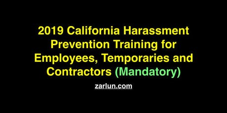2019 California Harassment Prevention for Employees San Diego tickets