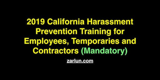 2019 California Harassment Prevention for Employees San Diego