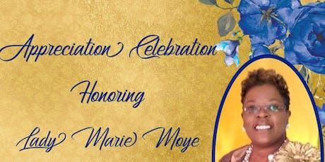 Lady Marie's Appreciation Celebration tickets