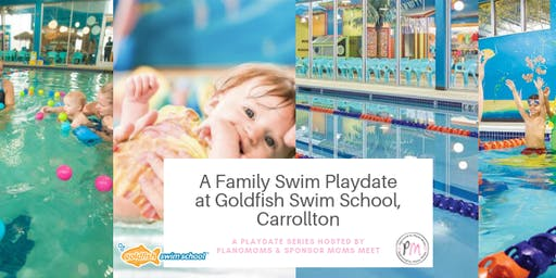 A Plano Moms Family Swim Date at the Goldfish Swim School Carrollton - sponsored by Moms Meet