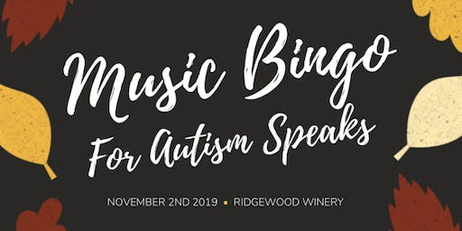 Music Bingo for Autism Speaks