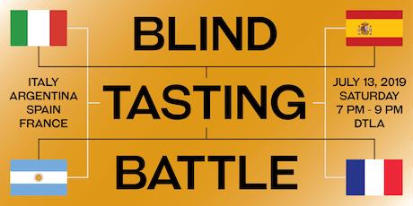 BLIND TASTING BATTLE:  France vs. Spain vs. Italy vs. Argentina tickets