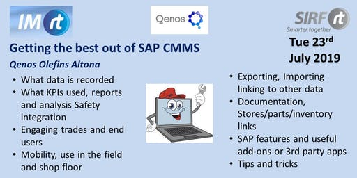 VICTAS Getting the best out of SAP CMMS - Qenos Olefins Altona