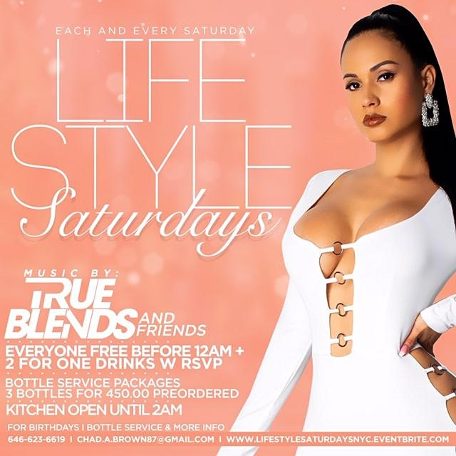 LifeStyle Saturdays | Open Bar + Free Entry