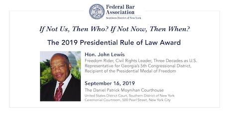 2019 FBA SDNY Rule of Law Award tickets