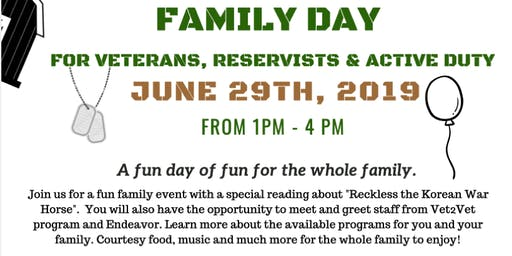 Family Day: for Veterans, Reservists and Active Duty