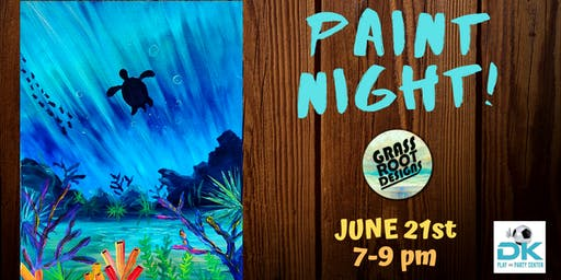 Coral Reef | Paint Night at Dk Play!
