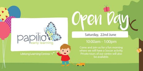 Papilio Early Learning North Strathfield Open Day (Blue Campus) tickets