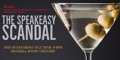 """The Speakeasy Scandal Murder Mystery"" 4 Course Food & Wine Pairing"