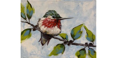 Ally's Art - Bird - fun painting class in Chicago - Private Group