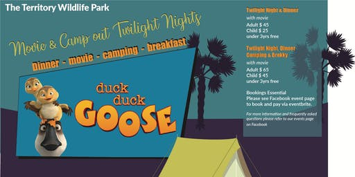 Twilight Night Camp Out & Movie - Duck Duck Goose