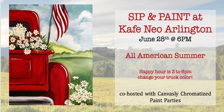 All American Summer Sip&Paint @ Kafe Neo tickets