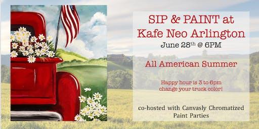 All American Summer Sip&Paint @ Kafe Neo