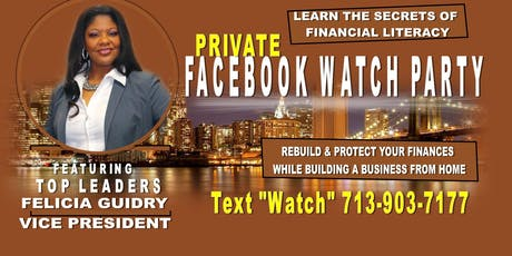 Work From Home Face Book Watch Party-Houston tickets