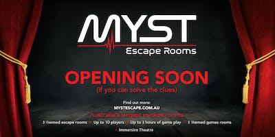 Myst Escape Rooms Launch Party