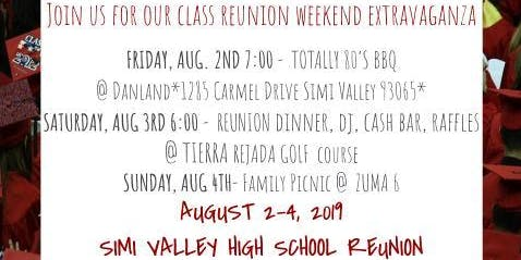 Simi High School Class of 1984 Reunion