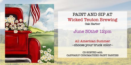 All American SUMMER Paint&Sip @ Wicked Teuton tickets