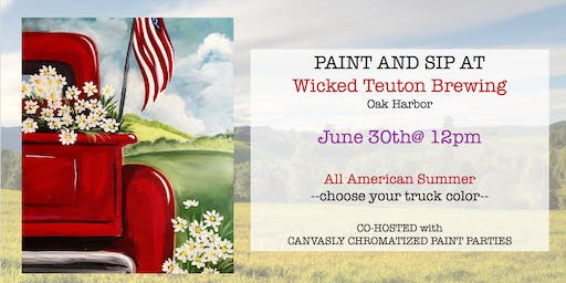 All American SUMMER Paint&Sip @ Wicked Teuton