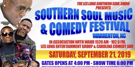Southern Soul Live Music & Comedy Festival Warrenton, NC tickets