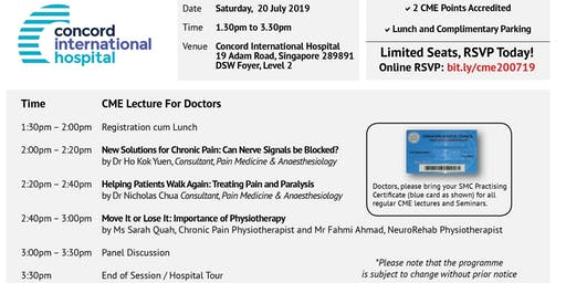 CME Lecture 20 July 19 (Sat), 1.30pm to 3.30pm  | 2 CME Points Accredited