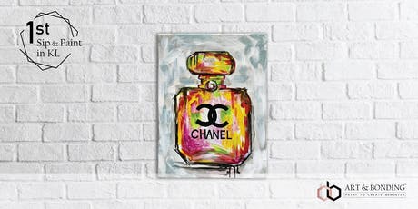 Sip & Paint Night : Vibrant Chanel Bottle tickets