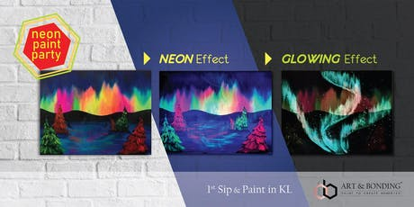 Sip & Paint Night : NEON Paint Party - Glowing Northern Light tickets