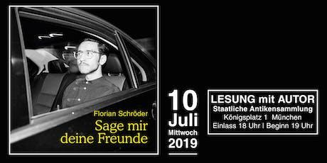 Autorenlesung mit Florian Schröder in der Staatlichen Antikensammlung am Königsplatz, München tickets