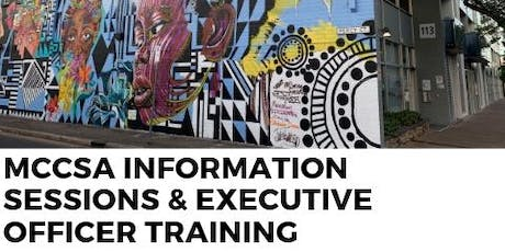 Executive Officer Training CHAIRPERSON & MCCSA Information Sessions  - For Multicultural Community Leaders tickets