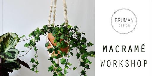 Macrame Plant hanger workshop Green Market