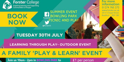 Outdoor Family Play and Learn event