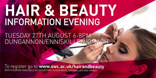 Hair & Beauty Courses Information Evening - Dungannon