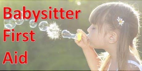 Babysitter First Aid tickets